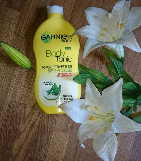 Sieger: Garnier Body Tonic - genauso wirksam wie das teurere Clarins-Produkt, besser zu verteilen und dabei viel günstiger!