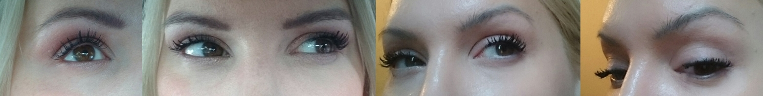 Bild 1 & 2 nach 6 Wochen Lash Boost Lash Growth Overnight Serum, Bild 3 & 4 + Lash Boost Lash Extension Fibres