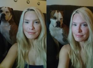 ich mit Teint-Make-up und Lotti ohne ;-)