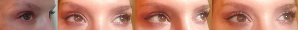 1. Bild links vorher, alle folgenden nachher (mit natürlichen Wimpern-extra abgeschminkt für euch;-)