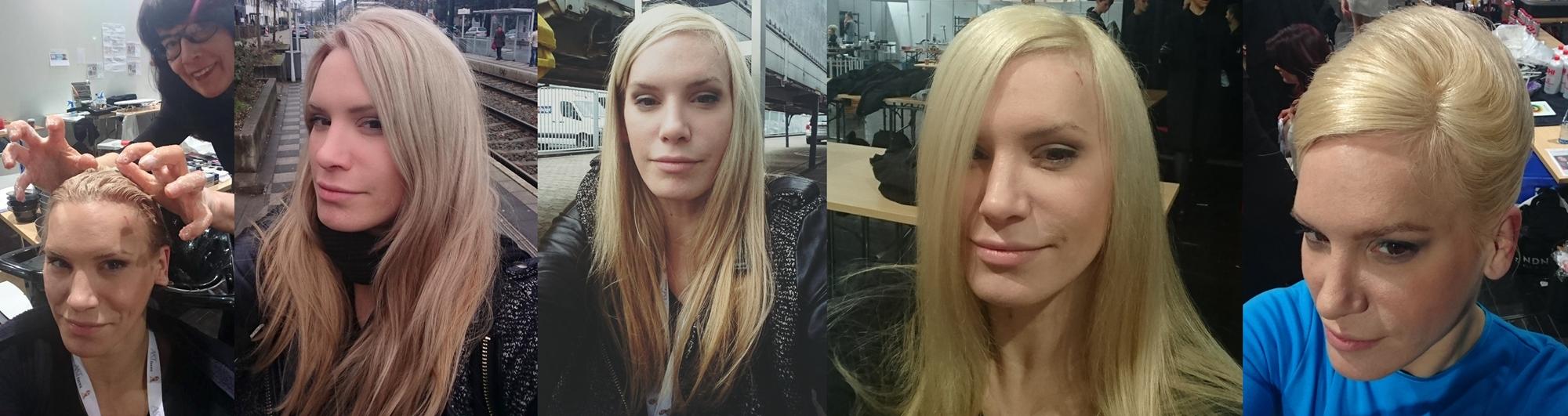 Verlauf in vier Tagen Haarmodeljob auf der Top-Hair