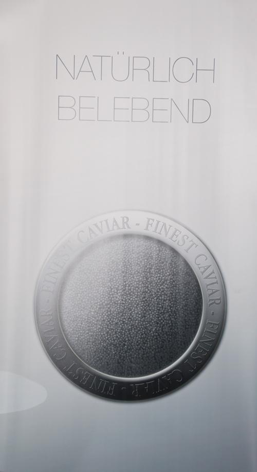 Produkt mit Kaviar-Werbeplakat