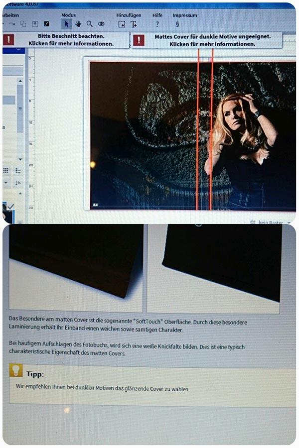 Paat die Farbe eines Fotos oder der Platz nicht, ploppen bei Saal Fehlermeldungen auf. Digital