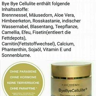 Inhaltsstoffe Dr. Juchheim ByebyeCellulite