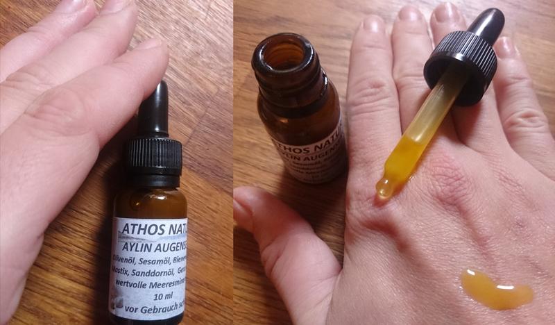 Test Naturkosmetik: Athos 'Aylin' Augenserum Gegen Falten, Augenringe, Tränensäcke Aus Griechenland/ + Wundersalbe Gegen Psoriasis