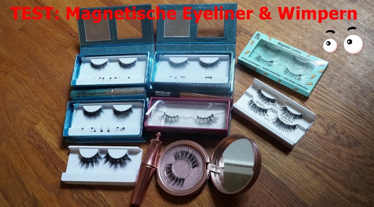 Test: Wimpern Kleben Für Dummies: Magnetische Eyeliner & Magnetische Wimpern | Lash Liner System Vs. Moxielash Vs. Ebay & Drogerie